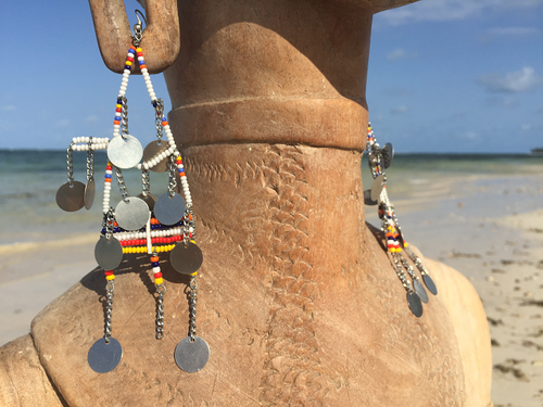 EARRINGS MASAI RANGI NYINGI WITH PENDANTS
