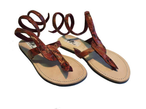 SANDALS KENIAN ORIGINAL SNAKE RED