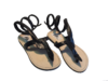 SANDALS  KENYAN ORIGINAL SNAKE BLACK