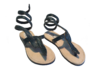 SANDALS  KENYAN ORIGINAL SNAKE BLUE