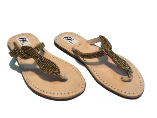SANDALS ORIGINAL KENYA MODEL SNAKE GOLD