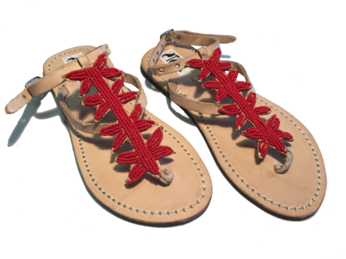 SANDALS ORIGINAL KENYA MODEL SEA STAR RED